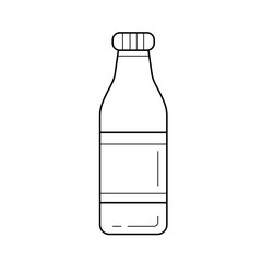 Bottle of soft drink vector line icon isolated on white background. Water in a glass bottle line icon for infographic, website or app.