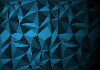 Abstract blue polygon pattern background texture vector illustration.