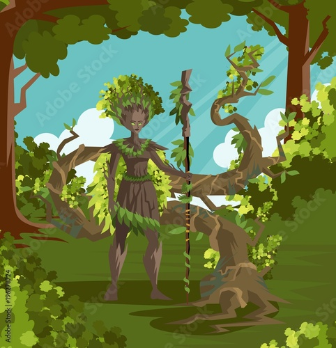 dryad ent magical forest guardian stock image and royalty free