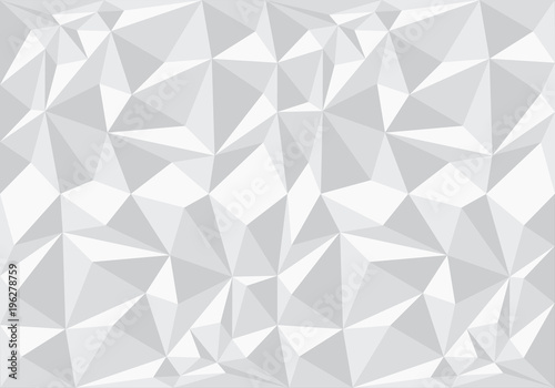Abstract white polygon pattern background texture vector