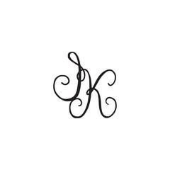 Handwritten monogram icon
