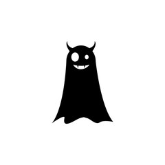 ghost with horns icon. Element of scarecrow icon. Premium quality graphic design icon. Signs and symbols collection icon for websites, web design, mobile app