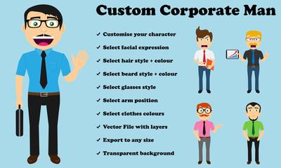 Custom Corporate Man (No jacket)