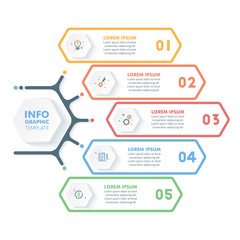 Business Infographic Template.Modern Hexagonal Infographics Timeline Design.Colorful Vector Illustration