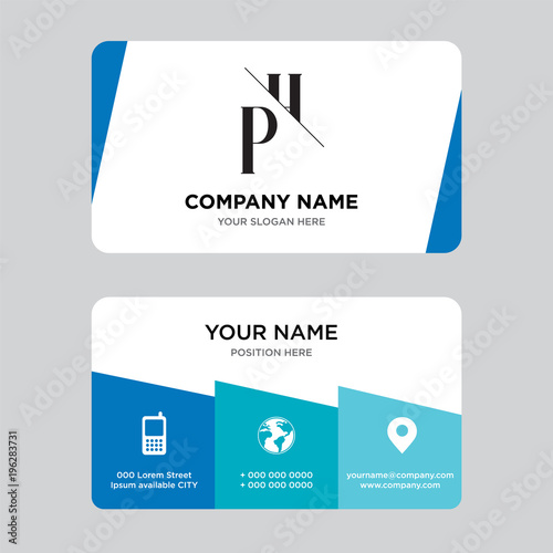 Phhp business card design template visiting for your company phhp business card design template visiting for your company modern creative and reheart Images