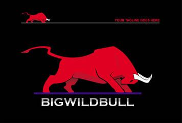 big wild red bull