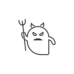 ghost devils icon. Element of ghost elements illustration. Thin line  illustration for website design and development, app development. Premium icon