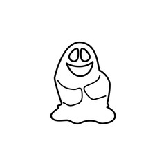 sweet ghost icon. Element of ghost elements illustration. Thin line  illustration for website design and development, app development. Premium icon