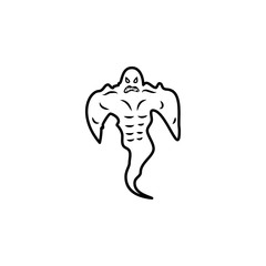 a strong ghost icon. Element of ghost elements illustration. Thin line  illustration for website design and development, app development. Premium icon