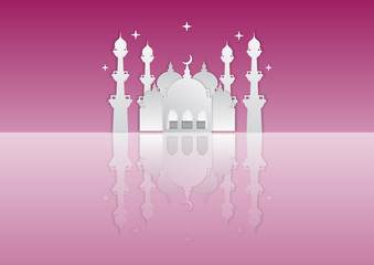 paper art of islamic background