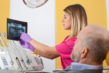Dental treatment, x-ray