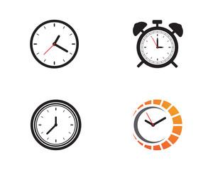Clock icon vector illustration design