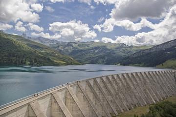 Lac de Roselend in Savoyen