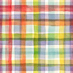 Watercolor rainbow stripes pattern