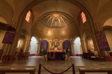 Interior of Basilica Church Altar of the Mission San Francisco de Asis, or Mission Dolores