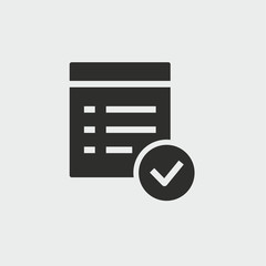 Checklist vector icon.