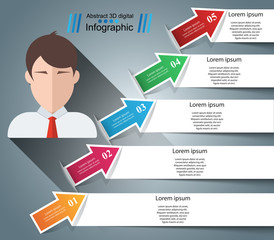 Business Infographics origami style Vector illustration. Avatar icon. Vector eps 10