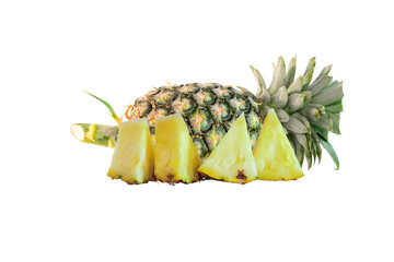 The Pineapple were placed on a white background.