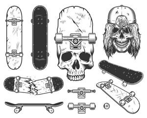 Set of skateboards