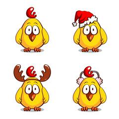 Collection Funny Christmas Chicks