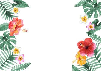 南国 ハワイ 植物フレーム