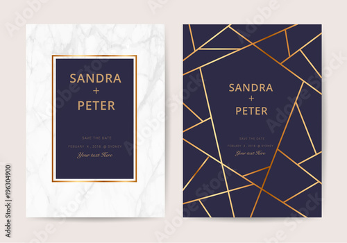Wedding cards with marble texture and gold design for cover banner wedding cards with marble texture and gold design for cover banner invitation stopboris Images