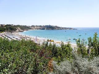 Sea beach on the Bay