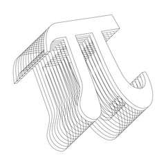 Vector Pi symbol in layers