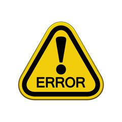 Señal triangulo advertencia con icono atencion ERROR