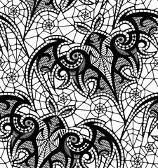 Bat. Seamless pattern. Lace  pattern.