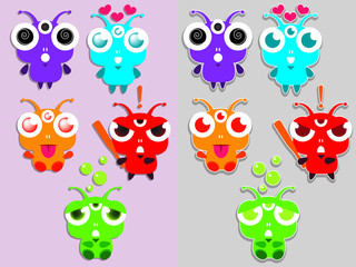 Little emotional animal morph. Can use him in smiles and stickers. Have Many different version of colors.
