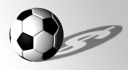 Soccer ball dollar shadow illustration sports betting