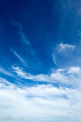 Spoed Fotobehang Hemel blue sky background with tiny clouds