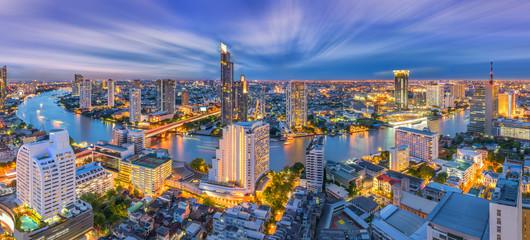 City scape of Sathorn Bangkok Thailand