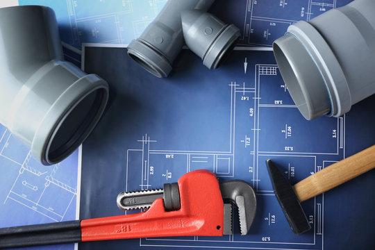 Plumber's items on blueprint