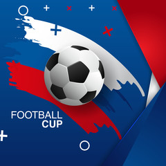 vector illustration of a football cup. design of a stylish background for the soccer championship