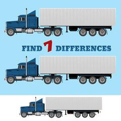 FInd 7 differences vector eps design illustration