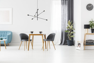 Grey open space interior