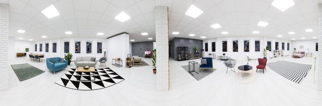 Panorama of photo studio