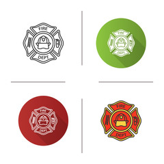 Fire department badge icon