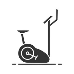 Exercise bike glyph icon
