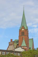 The Gustav Adolf Church in Hamburg-Neustadt, Germany.