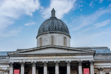 The National Gallery in Trafalgar Square in London