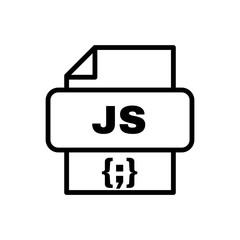Javascript file vector icon