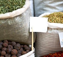 in   bazaar  market spice ingredient for food