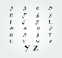Music 26 alphabet.