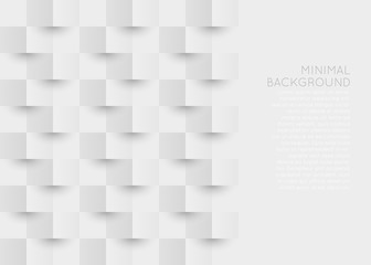 Origami 3d style background. White and gray geometric background with space for text.