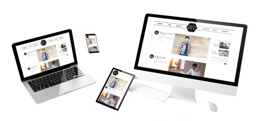 flying devices fashion blog responsive website