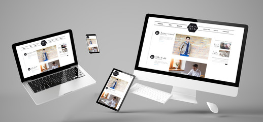 Wall Mural - flying devices fashion blog responsive website