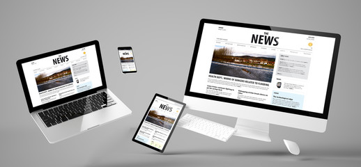 Wall Mural - flying devices newsresponsive website
